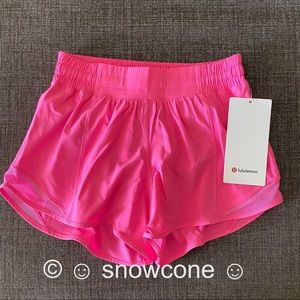 "Lululemon Hotty Hot Shorts 4"" DARK PRISM PINK 💗"